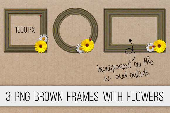 Wooden frames brown PNG clipart