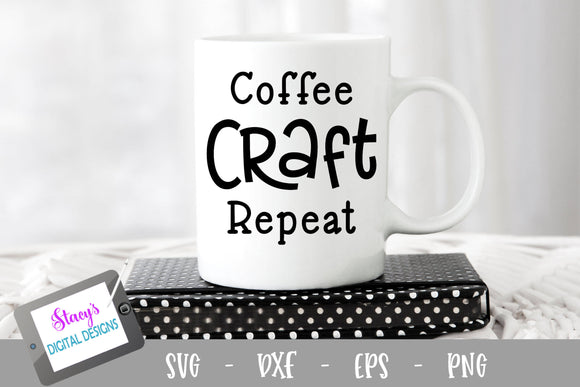 Coffee Craft Repeat SVG - Coffee SVG - Craft SVG