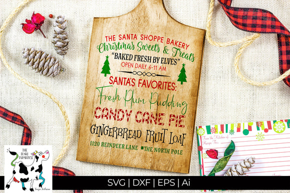 Christmas Sweets & Treats SVG Cut File