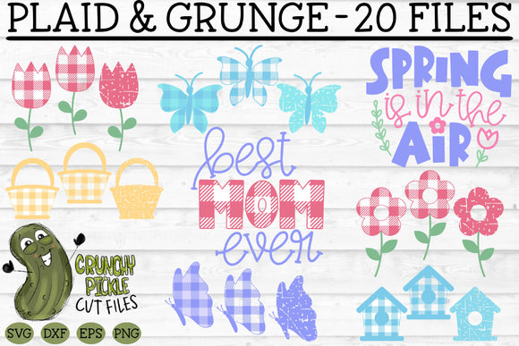 Plaid & Grunge Spring / Easter / Mother SVG Cut File Bundle