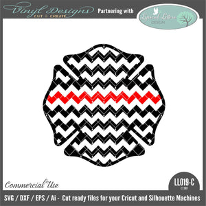 Chevron Maltese Cross Thin Red Line Cut File