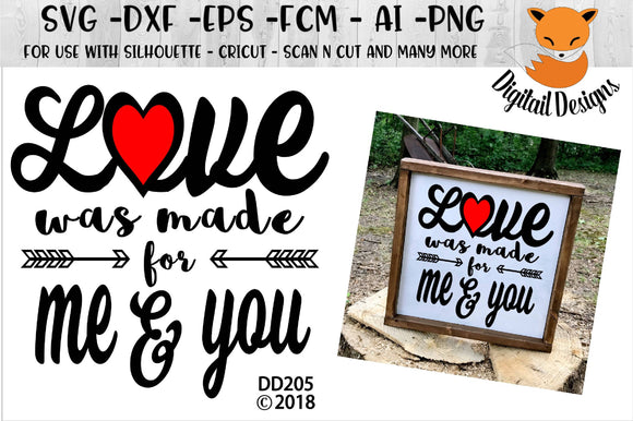 Love Was Made For Me And You Valentine Wedding SVG