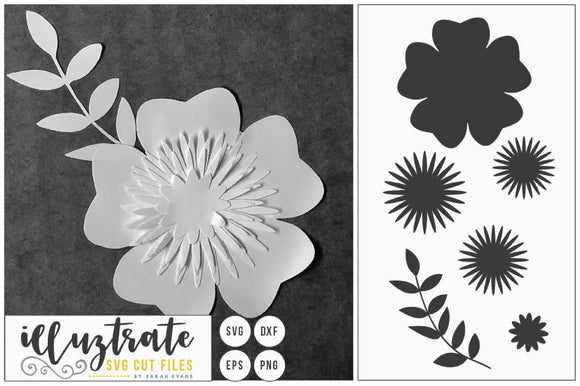 3d Flower SVG Cut File
