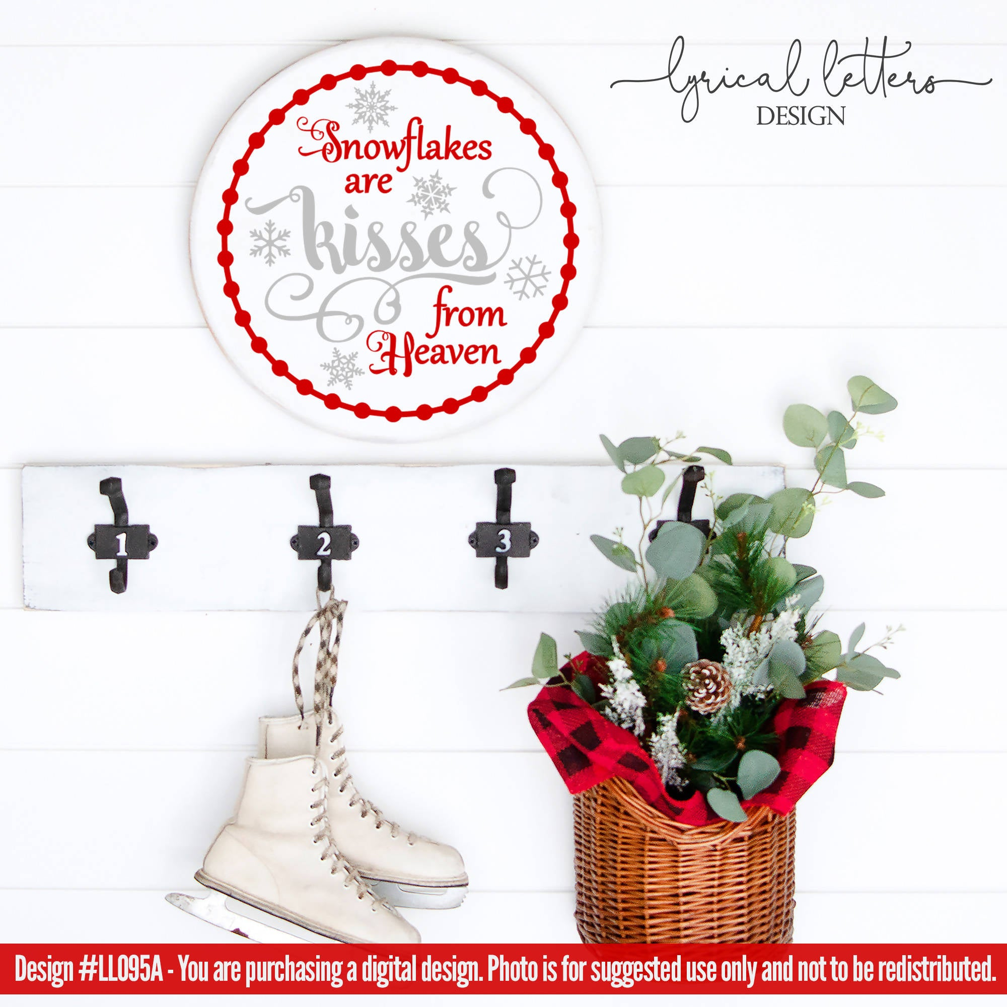 Snowflakes Are Kisses From Heaven Svg Cut File Svg Font Market