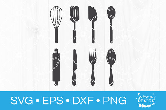 Kitchen Utensils SVG