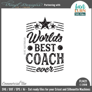 World's best coach ever Cut File