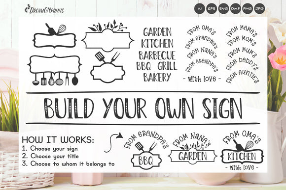Sign Making Bundle | Kitchen Sign SVG Builder