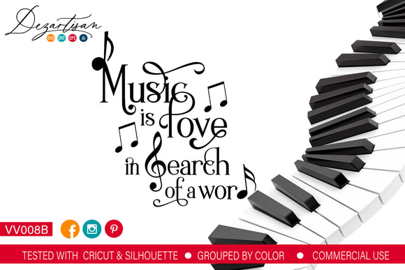 Music Is Love SVG | DXF Cut File