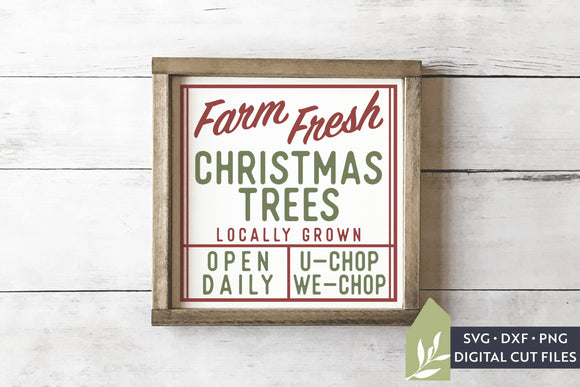 Farm Fresh Christmas Trees SVG, Vintage Christmas SVG