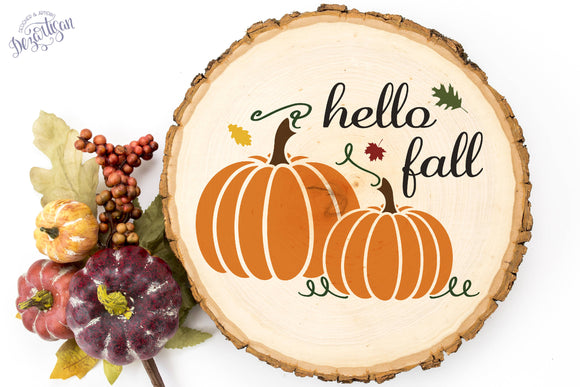 Hello Fall SVG | DXF Cut File