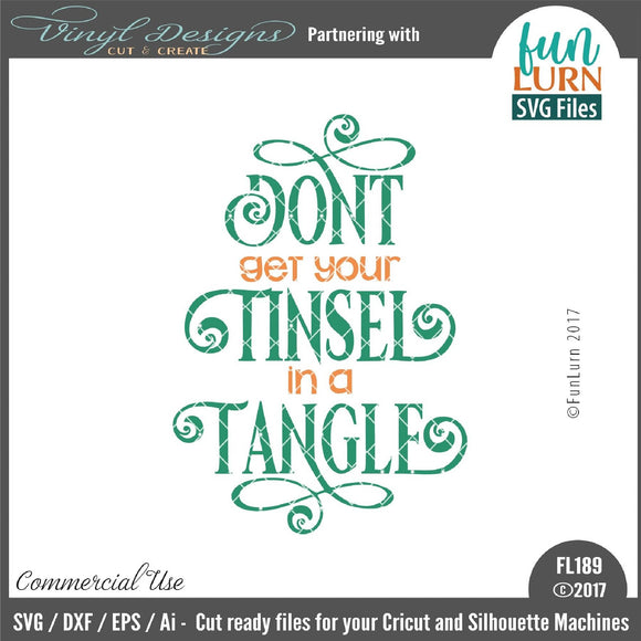 Dont get your tinsel in a tangle Cut File