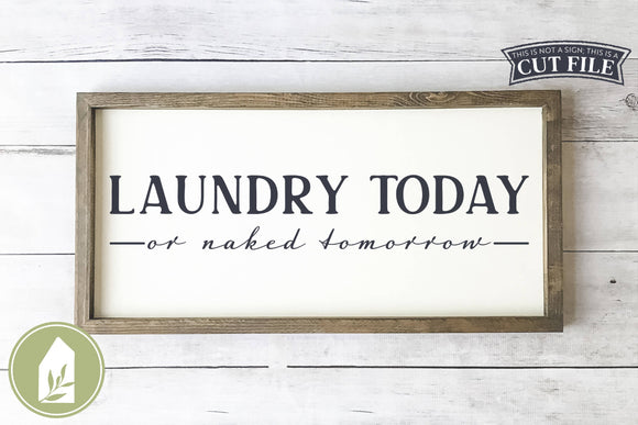Laundry Today Or Naked Tomorrow SVG, Funny Laundry Room SVG