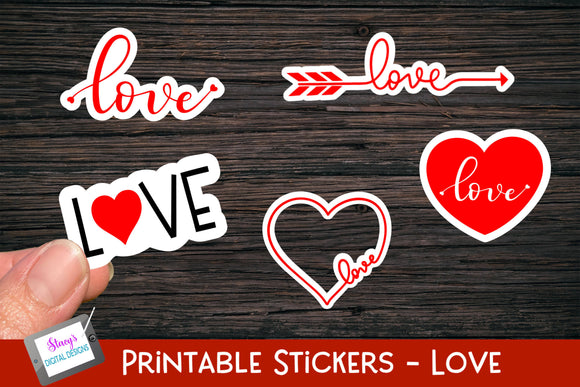 Valentine's Day Stickers - 5 Love Stickers