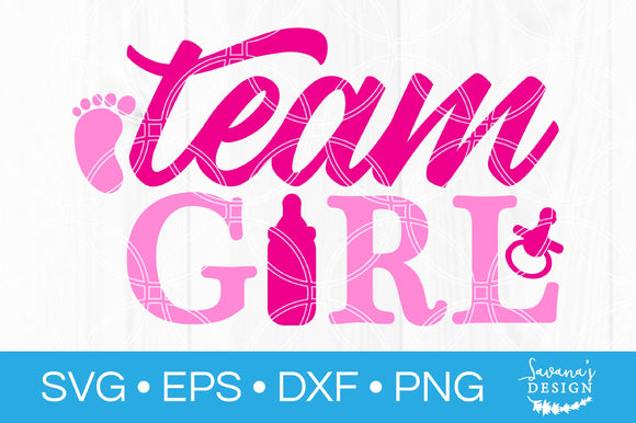 Team Girl SVG