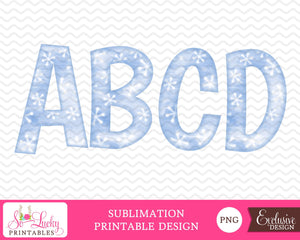 Christmas alphabet 1 watercolor printable sublimation design - Digital download - PNG - Printable graphic design