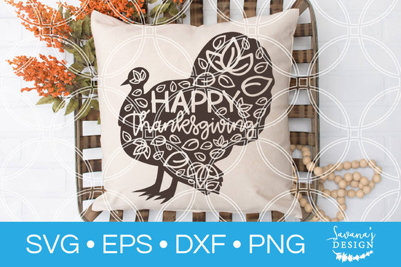 Happy Thanksgiving Turkey SVG