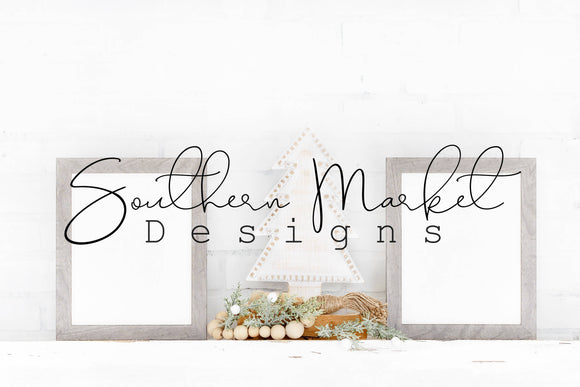 8X10 CHRISTMAS DIGITAL MOCK UP STOCK PHOTOGRAPHY