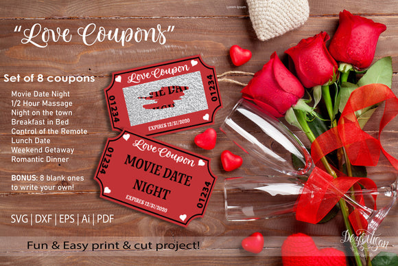 Valentines Day Coupon Scratch Off SVG | DXF | PDF