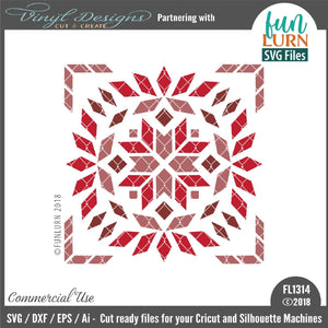 Divine Lotus Barn Quilt Cut File