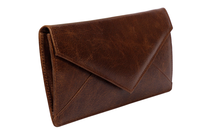 Tribe Monpa  Chocolate Marble Women's Sleek Wallet- 100% Pure Leather