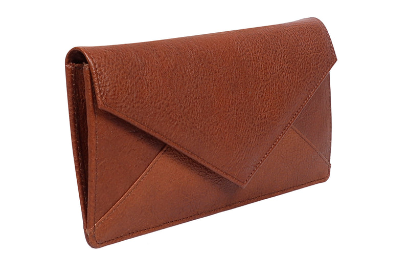 Tribe Monpa  Bark Brown Women's Sleek Wallet- 100% Pure Leather