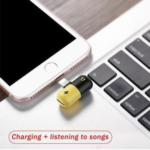 sterdio.com Accessory 2 in 1 Micro USB Mobile Phone Audio Charging Headphone Adapters for Iphone 7 8 X Adapter