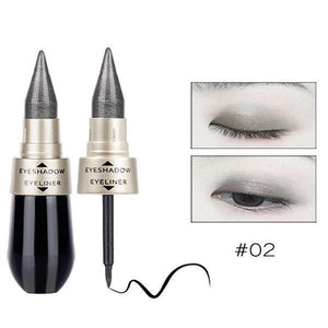 sterdio..com Beauty & Fashion 2 Shimmer Eyeshadow Stick Waterproof Glitter Eye Shadow Long-lasting Soft Eyeliner Makeup