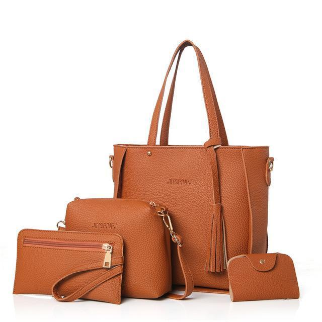 sterdio.com Beauty & Fashion Brown Fashion Shoulder Bag Purse Ladies PU Leather Crossbody Bag