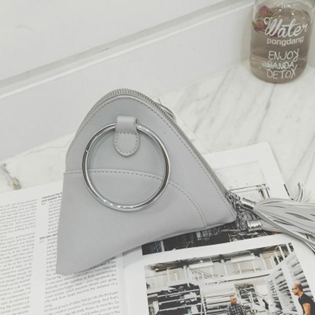 sterdio.com Beauty & Fashion Gray 2018 Tassel Mini Dumpling Messenger Bags