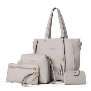 sterdio.com Beauty & Fashion Gray Fashion Shoulder Bag Purse Ladies PU Leather Crossbody Bag
