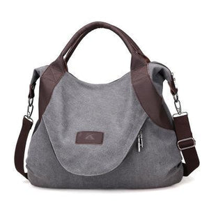sterdio.com Beauty & Fashion Gray Women's Large Pocket Messenger Handbag