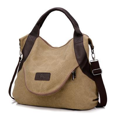 sterdio.com Beauty & Fashion Khaki Women's Large Pocket Messenger Handbag