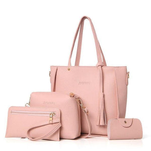 sterdio.com Beauty & Fashion Pink Fashion Shoulder Bag Purse Ladies PU Leather Crossbody Bag