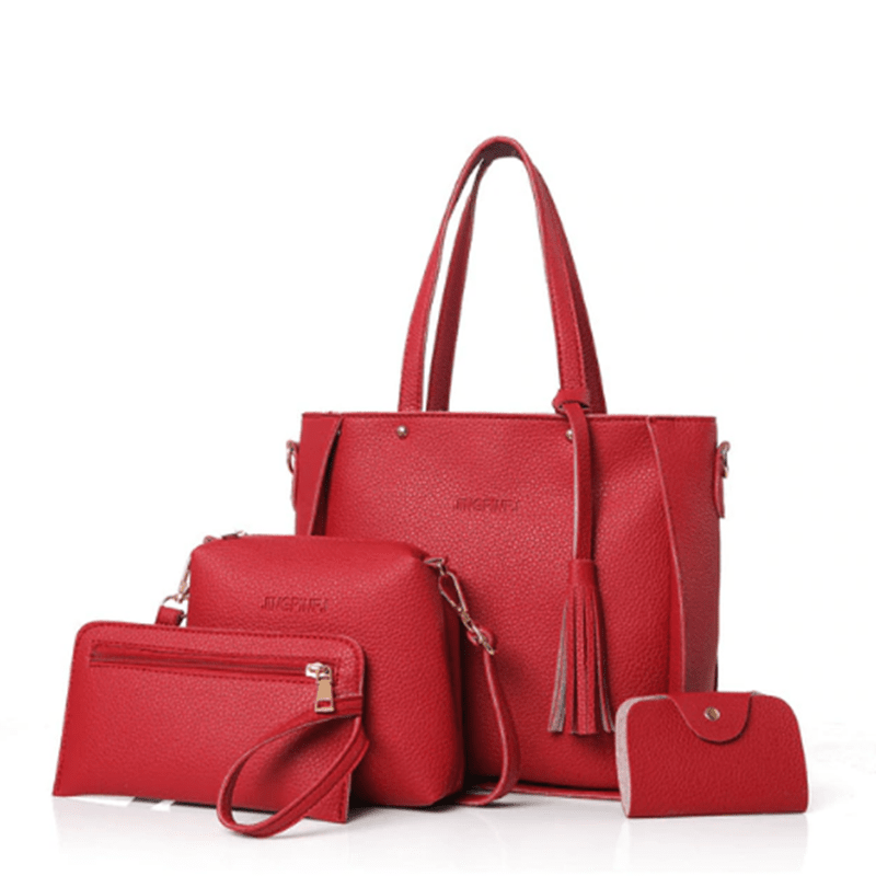 sterdio.com Beauty & Fashion Red Fashion Shoulder Bag Purse Ladies PU Leather Crossbody Bag