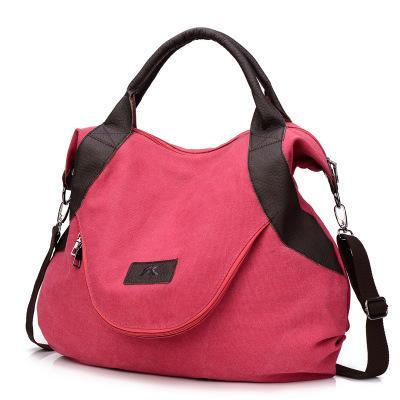 sterdio.com Beauty & Fashion Rose Red Women's Large Pocket Messenger Handbag