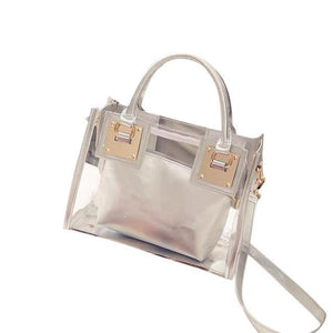 sterdio.com Beauty & Fashion Sliver New Fashion Women Clear Transparent Shoulder Bag Jelly Candy Summer Beach Handbag