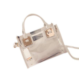 sterdio.com Beauty & Fashion White New Fashion Women Clear Transparent Shoulder Bag Jelly Candy Summer Beach Handbag