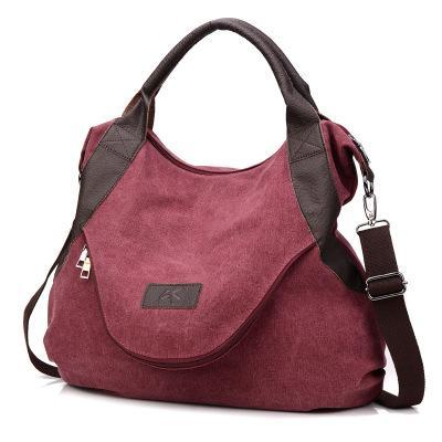 sterdio.com Beauty & Fashion Wine Red Women's Large Pocket Messenger Handbag