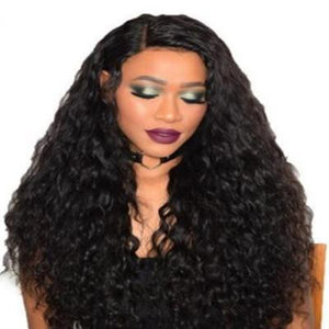 sterdio.com Beauty Straight Deep Curly & Straight Lace Human Hair Wig