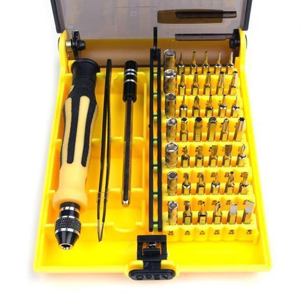 sterdio.com Garden Tools 45 in 1 Screwdriver Repair Tool Tweezer Kit Set