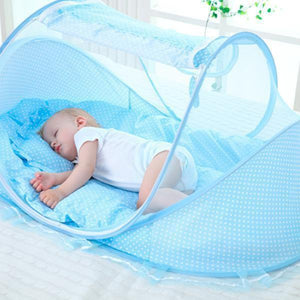 sterdio.com Home & Garden Blue Baby Portable Folding Mosquito Net