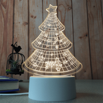 sterdio.com Home & Garden US Plug / Christmas Tree 3D Optical Illusion Desk Lamp Unique Night Light for Home Decor