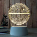 sterdio.com Home & Garden US Plug / Death Star 3D Optical Illusion Desk Lamp Unique Night Light for Home Decor
