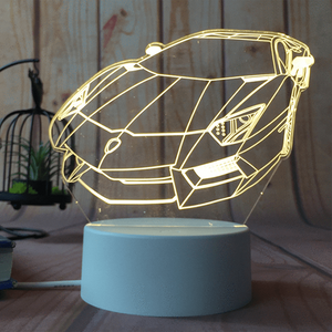 sterdio.com Home & Garden US Plug / Lamborghini 3D Optical Illusion Desk Lamp Unique Night Light for Home Decor