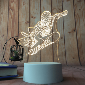 sterdio.com Home & Garden US Plug / Spider Man 3D Optical Illusion Desk Lamp Unique Night Light for Home Decor