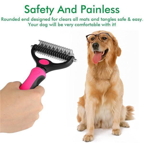 sterdio.com Pet Appliance Dematting Comb with 2 Sided Undercoat Rake for Cats & Dogs