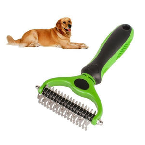 sterdio.com Pet Appliance Green Dematting Comb with 2 Sided Undercoat Rake for Cats & Dogs
