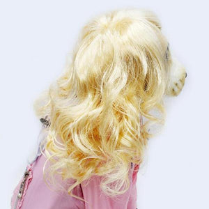 sterdio.com Pet Supplies Gold Funny Pet Wig