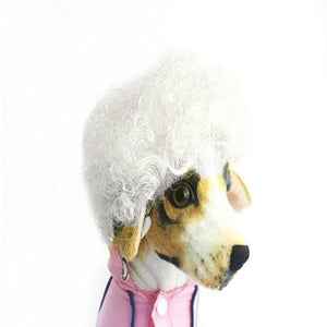sterdio.com Pet Supplies White Funny Pet Wig