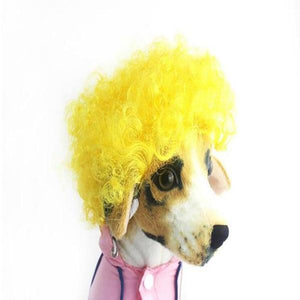 sterdio.com Pet Supplies Yellow Funny Pet Wig